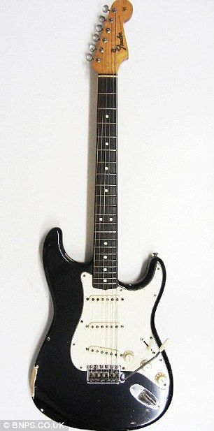 Jimi Hendrix's Black Fender Stratocaster, which sold at an auction in November 2012 for approximately $400,000.