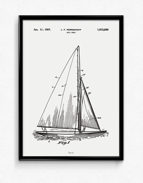 Sail Boat - Available at www.bomedo.com