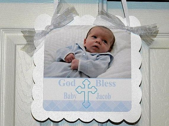 Baptism Decoration Baptism  Welcome Door Sign by APartyWithPaper