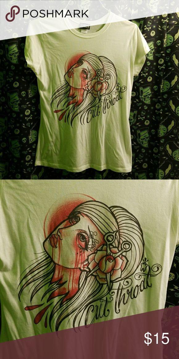Cut Throat Lowbrow Tattoo Horror Rose Shirt Ceci est en excellent état utilisé ….   – My Posh Picks