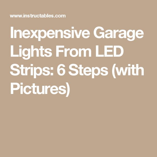 25+ Best Ideas About Garage Lighting On Pinterest