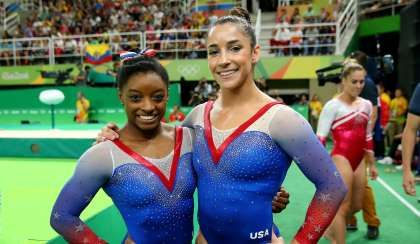 People are in awe of Simone Biles' and Aly Raisman's unbelievably ripped abs:  August 20, 2016  -