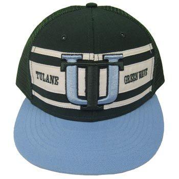 retro stripe snapback vault tu snapback hat blue green