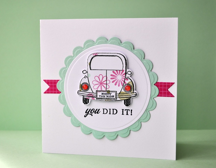 Inky Fingers: Papertrey Ink pass driving test card
