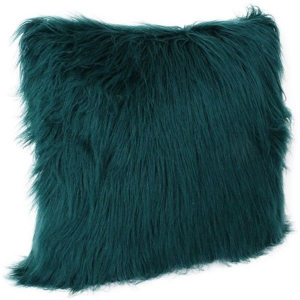 Deep Teal Keller Faux Fur Pillow, 20 in. ($30) ❤ liked on Polyvore featuring home, home decor, throw pillows, faux fur throw pillows, teal home accessories, teal accent pillows, teal blue home decor and teal toss pillows