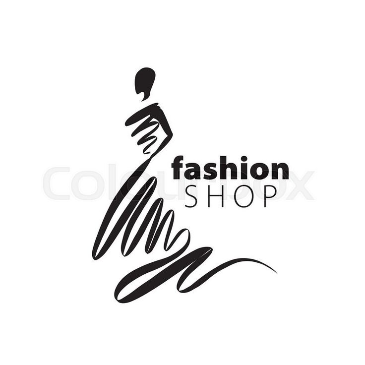 Stock vector of 'vector logo for womens fashion. Illustration of girl'