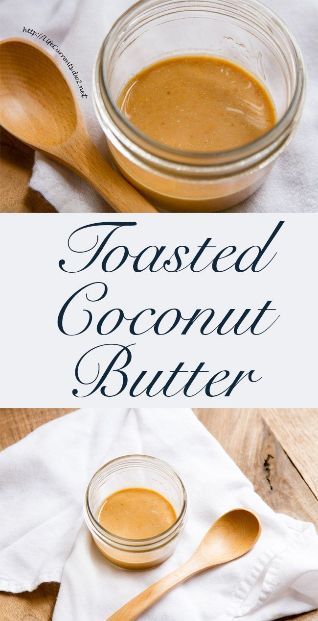 Toasted Coconut Butter with just one ingredient (plus a pinch of salt), this easy tasty spread would be delicious on morning toast, drizzled on cake, or just eaten with a spoon!