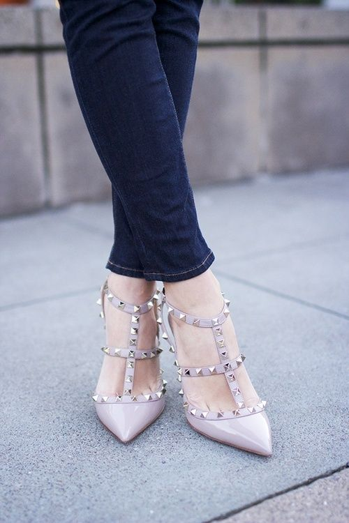 Extrêmement 68 best Valentino Rockstud shoes images on Pinterest | Valentino  QA67