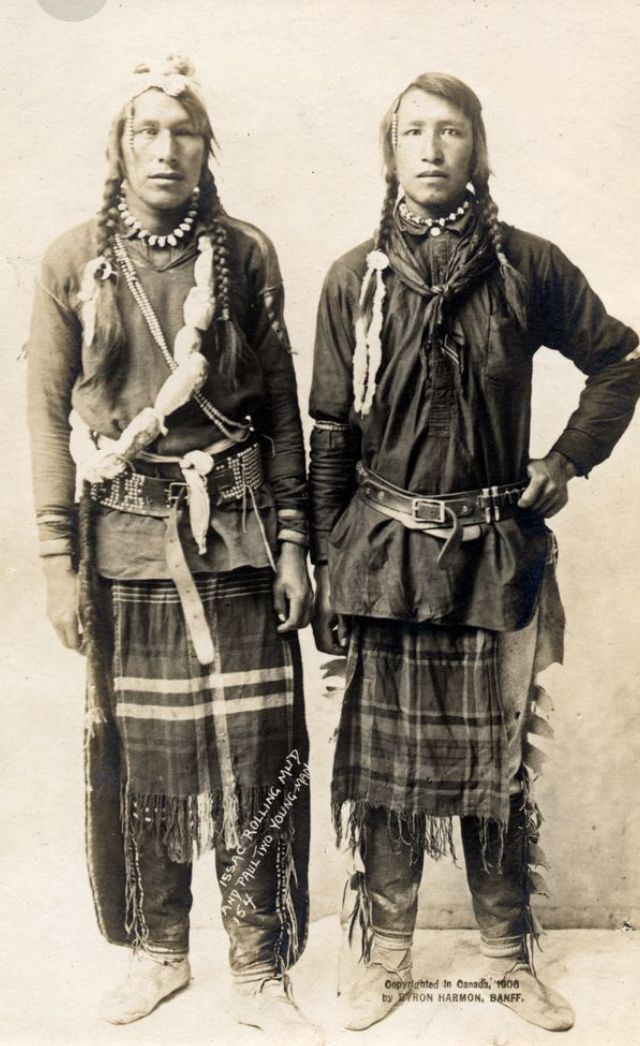 Issac Rolling Mudd & Paul Two Young Man. Canada, 1906.