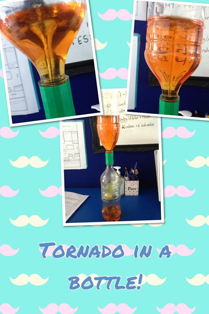 how to make a water tornado with 2 bottles