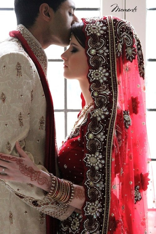 Beautiful Indian Bride And Groom Having A Tender Moment Together Country Cowboy Groom And