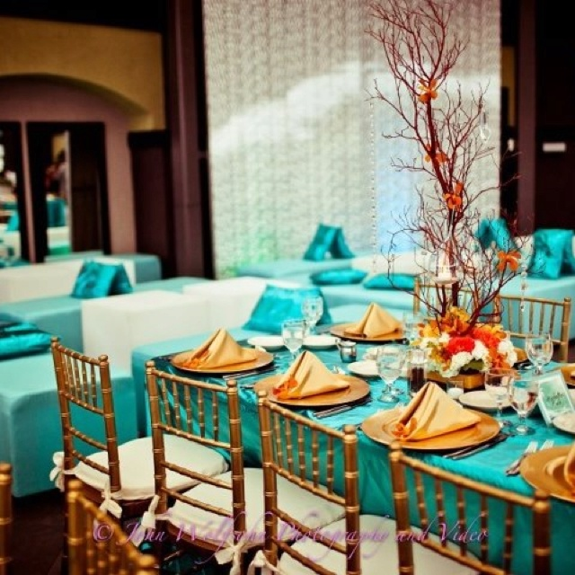Turquoise Wedding Party