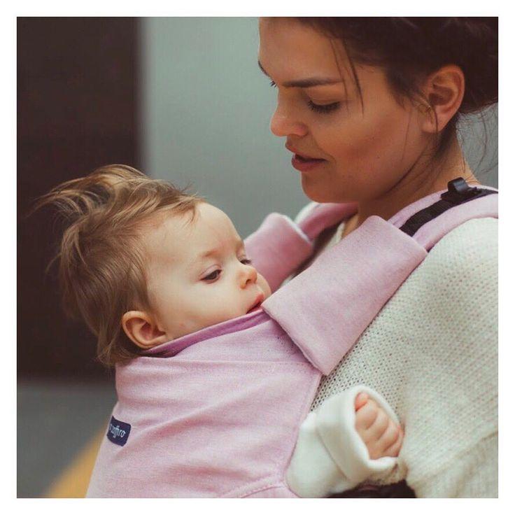 Baby carrier Zaffiro Embrace Melange pink - babywearing mom <3