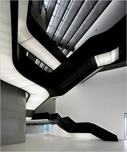 Designed by Zaha Hadid for Maxxi, this stair is in museum of contemporary art in Rome.