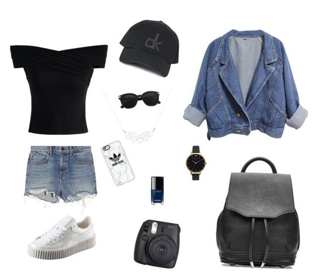 """""""SUMMER OUTFIT #1"""" by juliapedersen0 on Polyvore featuring Puma, Topshop, Casetify, Chicwish, Alexander Wang, Fuji, rag & bone, Chanel and Olivia Burton"""