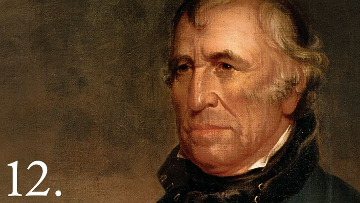 Zachary Taylor, a general and national hero in the United States Army from the time of the Mexican-American War and the War of 1812, was elected the 12th U.S. President, serving from March 1849 until his death in July 1850.