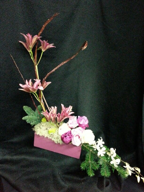 Pink sympathy piece $75 Grafe Studio Floral Artists  Faith Pressley