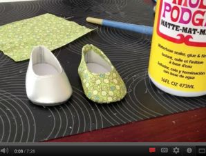 How To Make Custom Fabric Covered Flats for Dolls   Liberty Jane Doll Clothes Patterns For American Girl Dolls