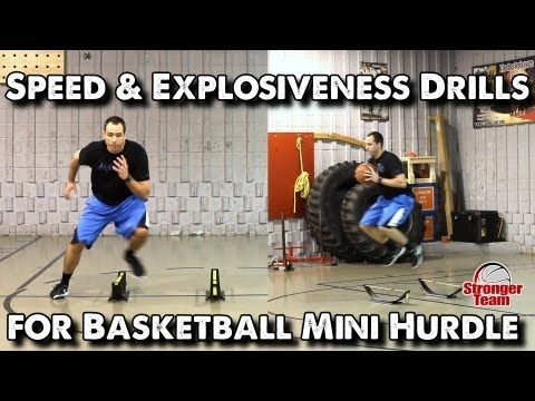 Speed & Explosiveness Drills for Basketball - Mini Hurdle - YouTube