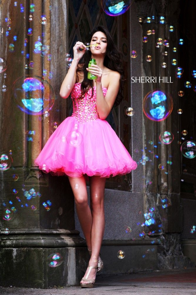 "Kendall Jenner – ""Sherri Hill"" Photoshoot even tho this isnt for a quince, this would still be a reallly cute photo idea"