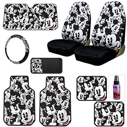 New Design Disney Mickey Mouse Car Seat Covers Floor Mats Steering Wheel Cover CD Visor Organizer Accessories Set with Travel Size Purple Slice Yupbizauto http://www.amazon.com/dp/B00PMESYOS/ref=cm_sw_r_pi_dp_9EePub00H2CG1