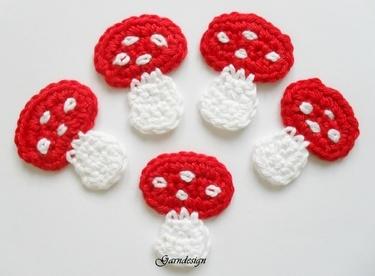 Crochet toadstools