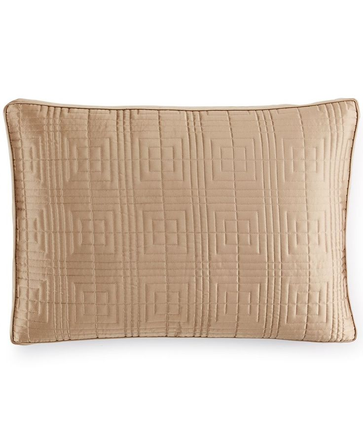 Hotel Collection Savoy Espresso Quilted Standard Sham