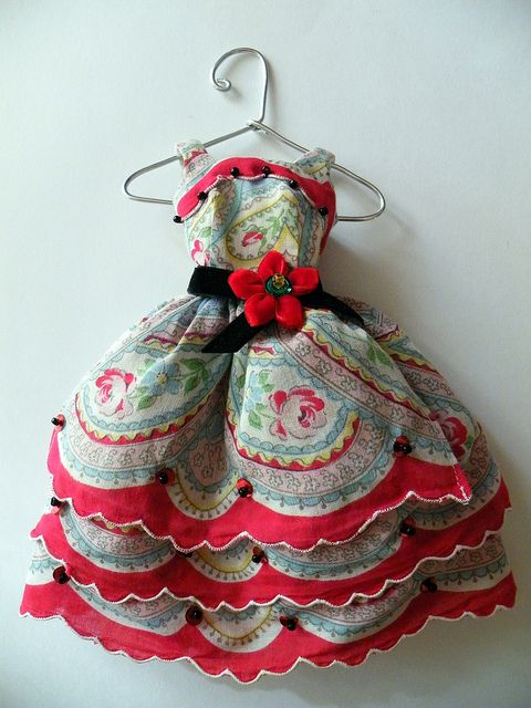 Hankie dress!!! by beebers31 on flickr