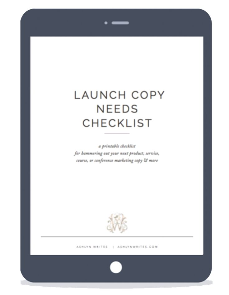 Free Copywriting Cheat Sheet