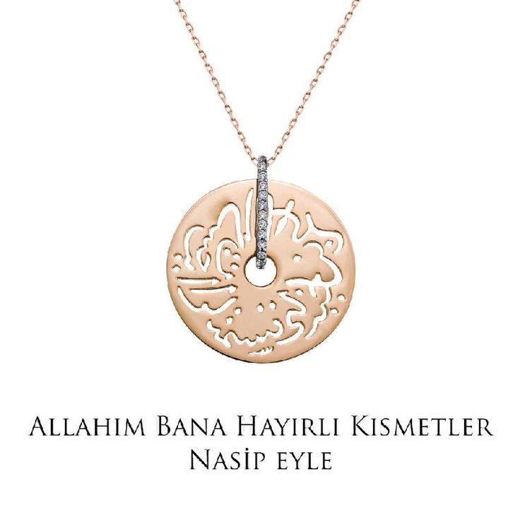 Ramazan ayında tüm dualarımız sevdiklerimiz için... Altın Seb'a Kolye - Allah'ım bana hayırlı kısmetler nasip eyle!