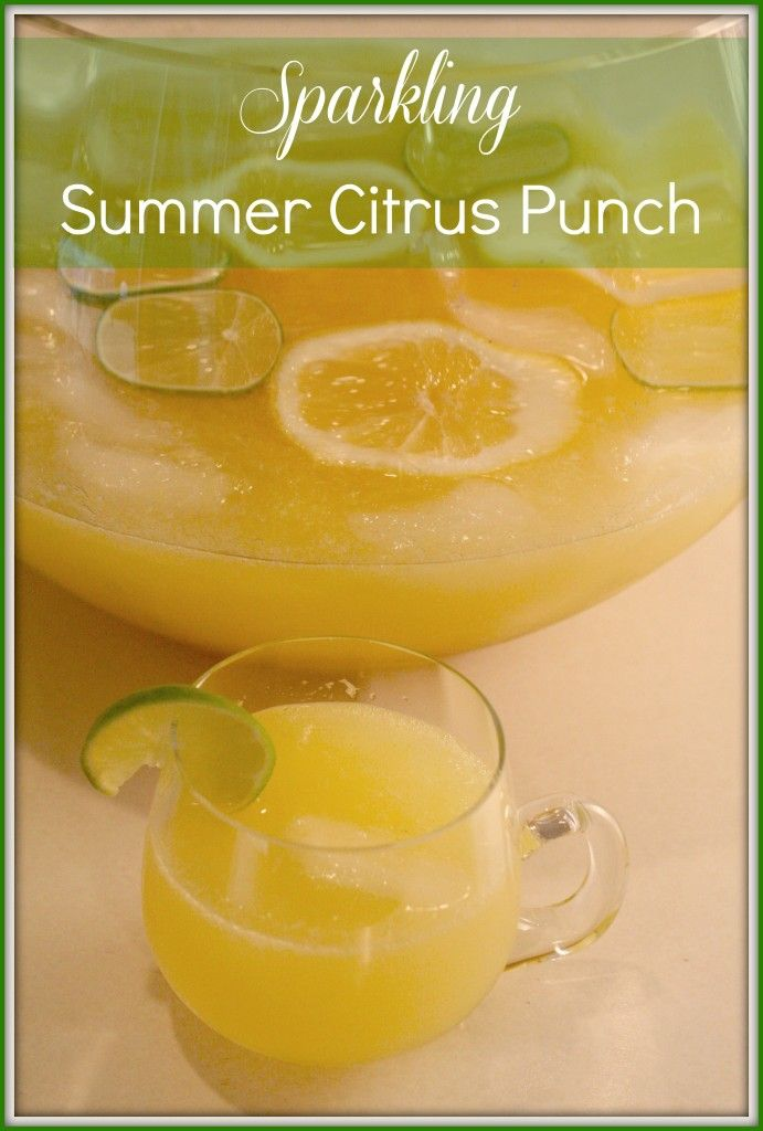 Super easy to make summer drink: sparkling summer citrus punch