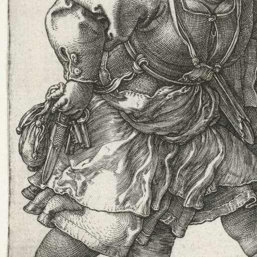 Dansend boerenpaar, Albrecht Dürer, 1514 - Rijksmuseum