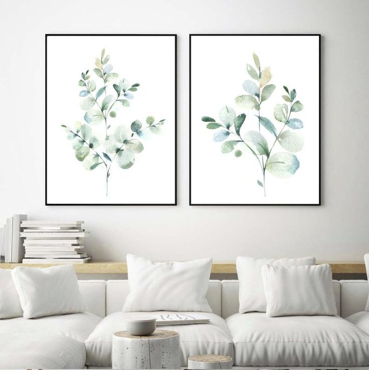 Eucalyptus Prints Botanical Prints Greenery Art Plant Etsy Wall Decor Bedroom Green Wall Decor Wall Art Living Room
