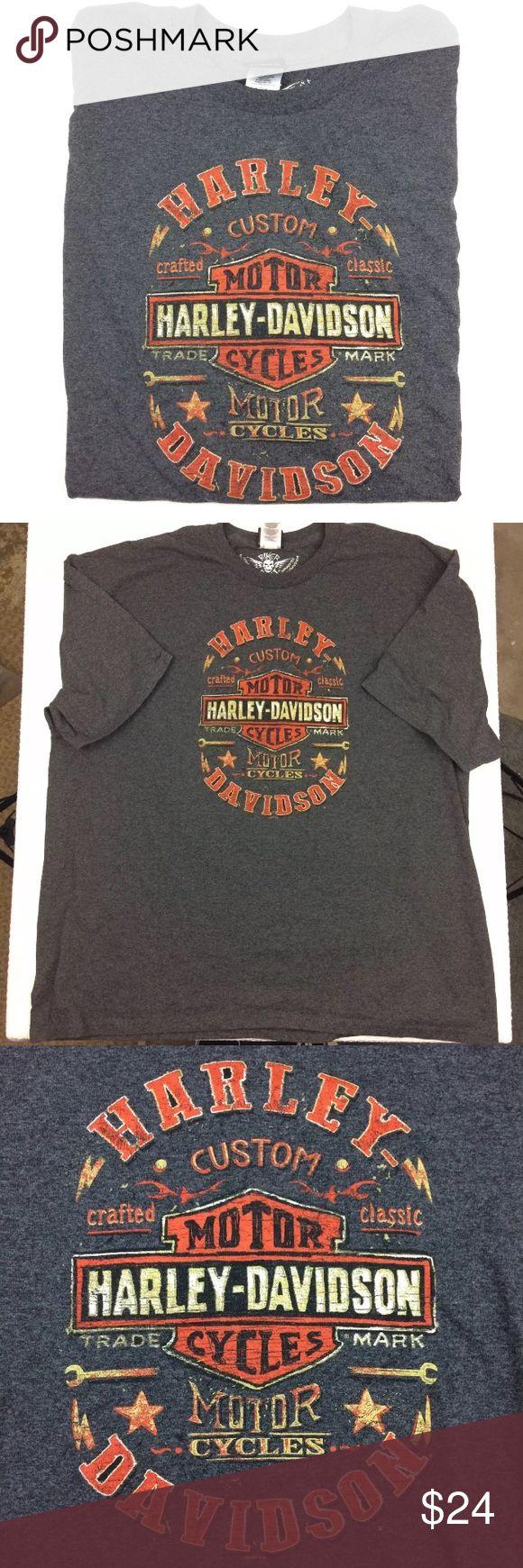 Harley Davidson Bedford Texas Tshirt This is a stoney dark grey Harley Davidson Bedford Texas tshirt. It is really great shape. Mens sz 3X Harley-Davidson Shirts Tees - Short Sleeve