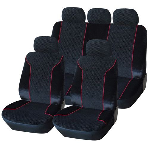 Furnistar 9-Piece Velvet Car Vehicle Protective Seat Covers CV0188