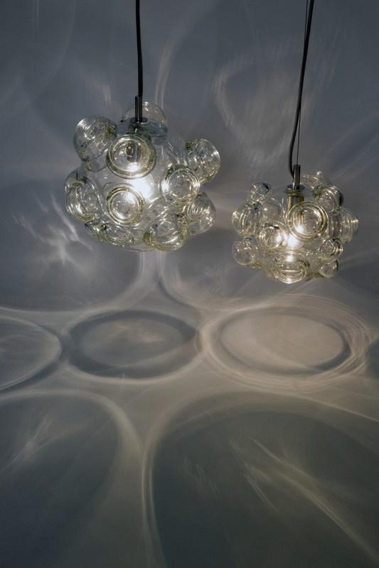 Bubblelux Pendants in clear