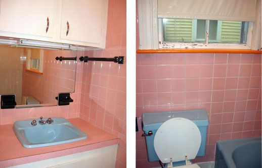 Vintage Pink Bathroom Ideas | ... : Shower Curtain for Pink & Blue Bathroom? | Apartment Therapy