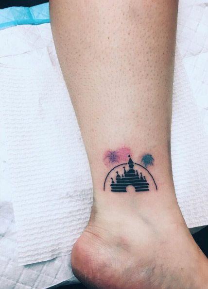 Disney Magic Kingdom Ankle Tattoo by Lauren Winzer