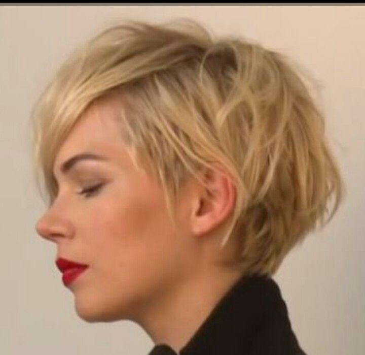 Michelle Williams--I always want her hair. The latest version is so funky.