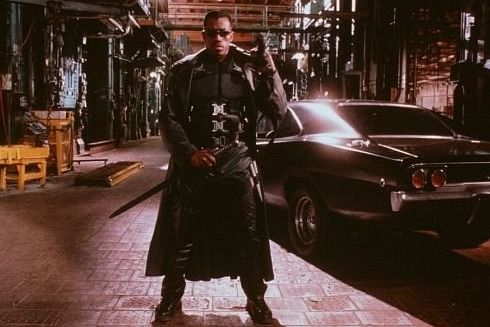 """""""Blade"""" (New Line Cinemas/1998) ~ """"I'd buy myself a gun if I were you. If you start becoming sensitive to daylight, if you start becoming thirsty regardless of how much you've had to drink -- then I suggest you take that gun and use it on yourself.  Better that, than the alternative."""" ~ Whistler"""