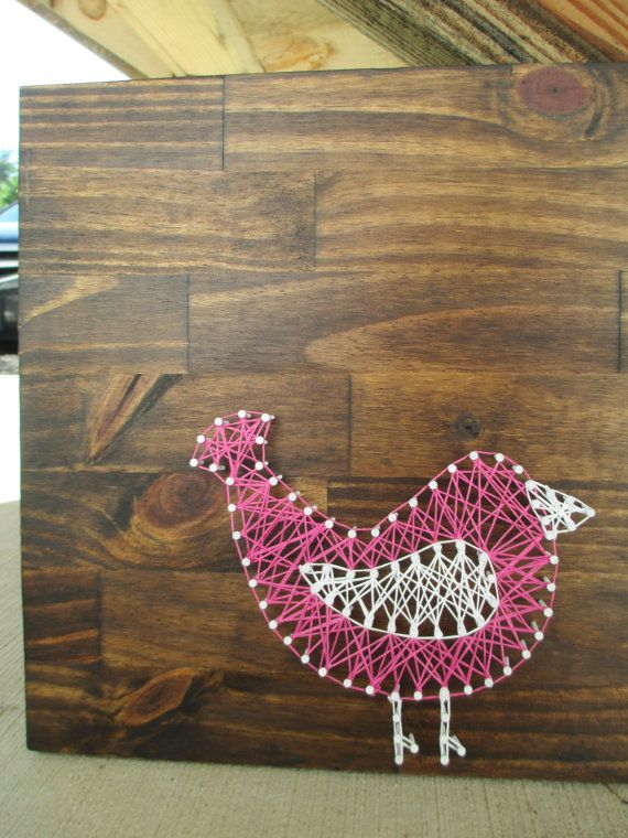 String Art Bird Nail and String Art Nursery by ArnieKHandmade