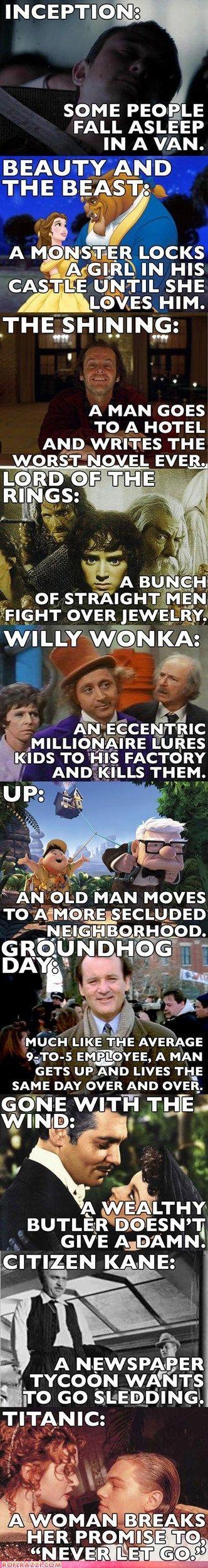 funny celebrity pictures - Slightly Skewed Movie Descriptions
