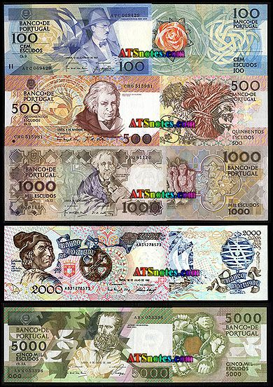 portugal currency   Portugal banknotes - Portugal paper money catalog and Portuguese ...
