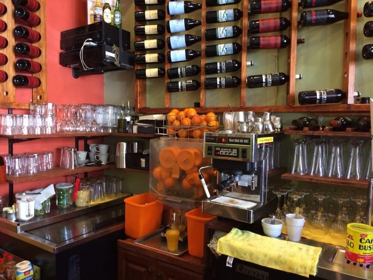 Photo of Mi Cuba Cafe - Washington, DC, United States. Inside bar counter - very neatly arranged and clean.