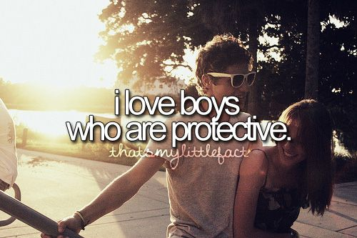 t h a t s m y l i t t l e f a c t♥ my man is so protective and I love him for it ^_^