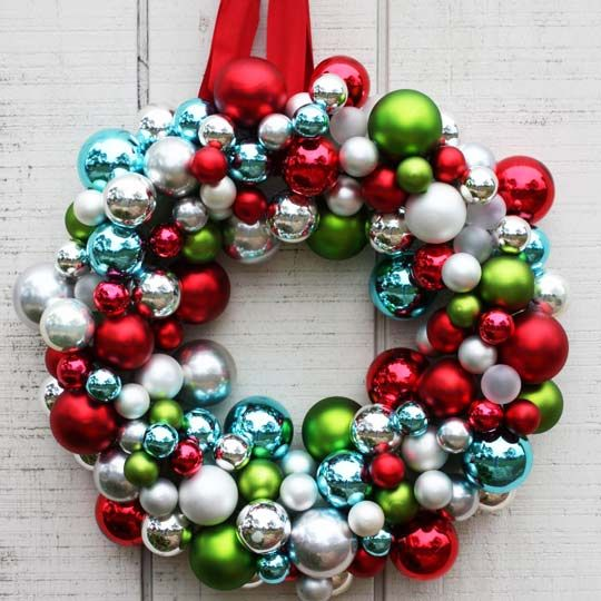 DIY Ornament Wreath: