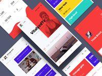 Social media app (WIP) by Cuberto