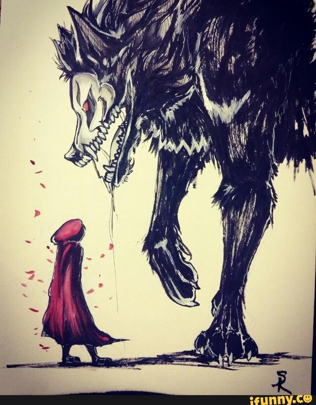 RWBY that's terrifying but at the same time it looks sooo amazing cause we know Ruby can kick that wolfs ass -Joey