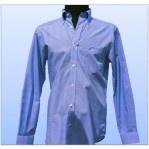 Camisa Nautica Slim Fit Azul cuadros chicos