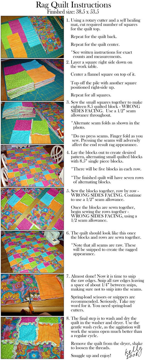 The Edge of Reason: The Perfect Winter Project: Rag Quilts (instructions included)  I am trying to use up my existing fabrics. This looks like a great and quick way to do it! ;)